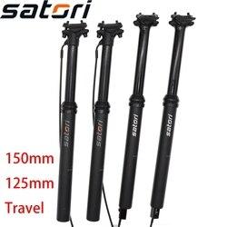 Satori cuentagotas tija de sillín altura ajustable 150mm 125 mm sorata pro interna de cable externo de 30,9 de 31,6mm de control remoto bicicleta MTB post