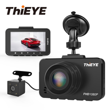 "ThiEYE Safeel 3/3R DVR 대시 카메라 러시아어 버전 145 차량 카메라 1080P 대시 캠 G 센서 2.45 ""후면보기 카메라"