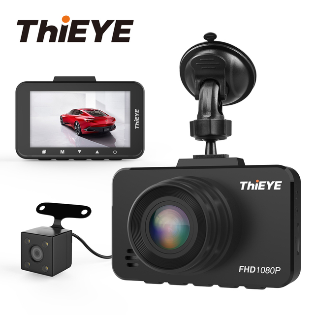 "ThiEYE Safeel 3/3R DVR Dash Camera Russian Version 145 Degree Vehicle Camera Real 1080P Dash cam G sensor 2.45"" Rear View Camera"