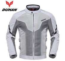 DUHAN Men Summer Motorcycle Racing Jacket Motocross Off Road Clothes Touring Travel Riding Clothing 7 Pcs Protective Gear