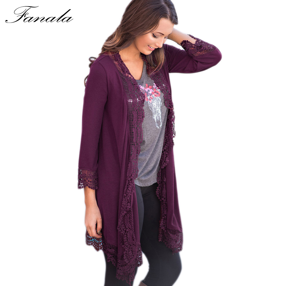 FANALA Spring Summer Women Sweaters Long Cardigan Knitted ...