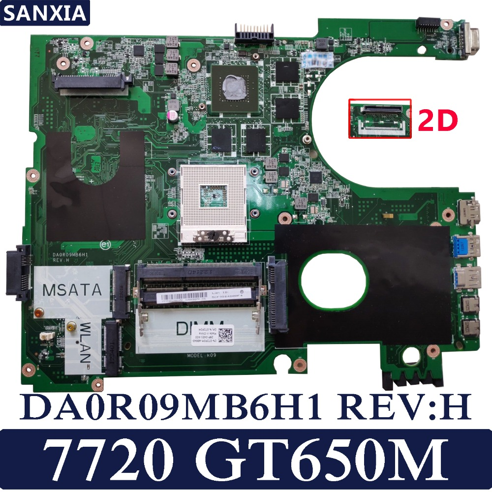 KEFU DA0R09MB6H1 REV: H Ordinateur Portable carte mère pour Dell 7720 CN-072P0M Test carte mère d'origine GT650M 2D