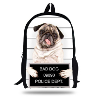 KOLLEGG Cute Bad Dog Set 3D Printing Children Softback Backpack Travel Mochila School Backpacks for Teenager Girls&Boys Bag