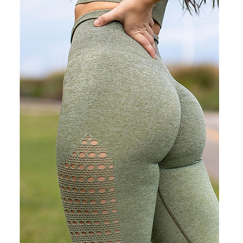 Imlario Women Ombre Seamless Gym Fitness Leggings High Waist Yoga Pants Cut Out Running Tights Scrunch Butt Running Leggings in Yoga Pants from Sports Entertainment