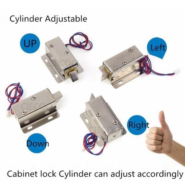 ФОТО Mini Smart cabinet lock DC12V Bolt Lock small electric lock security lock access controller door access security