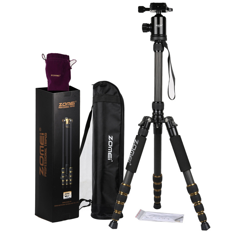 ZOMEI Z699C Professional Portable Travel Carbon fiber camera Tripod Monopod+Ball head for Digital SLR DSLR Camera zomei z888 portable stable magnesium alloy digital camera tripod monopod ball head for digital slr dslr camera