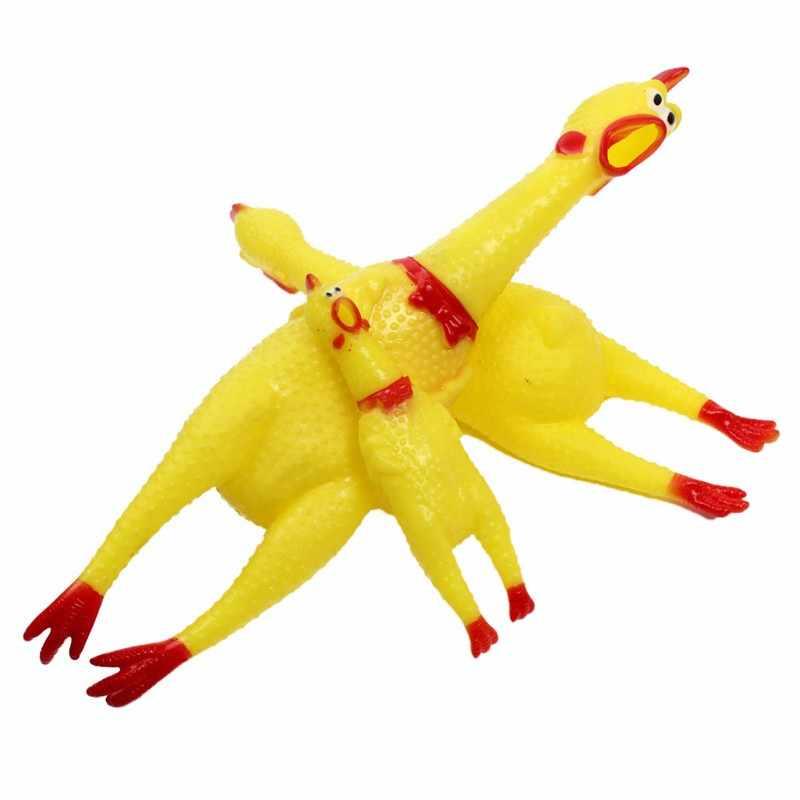 30 センチ 17 センチ 41 センチスクリーミングチキンスクイズ音のおもちゃペットのおもちゃ製品犬のおもちゃ Shrilling 解凍ツールおかしいガジェット