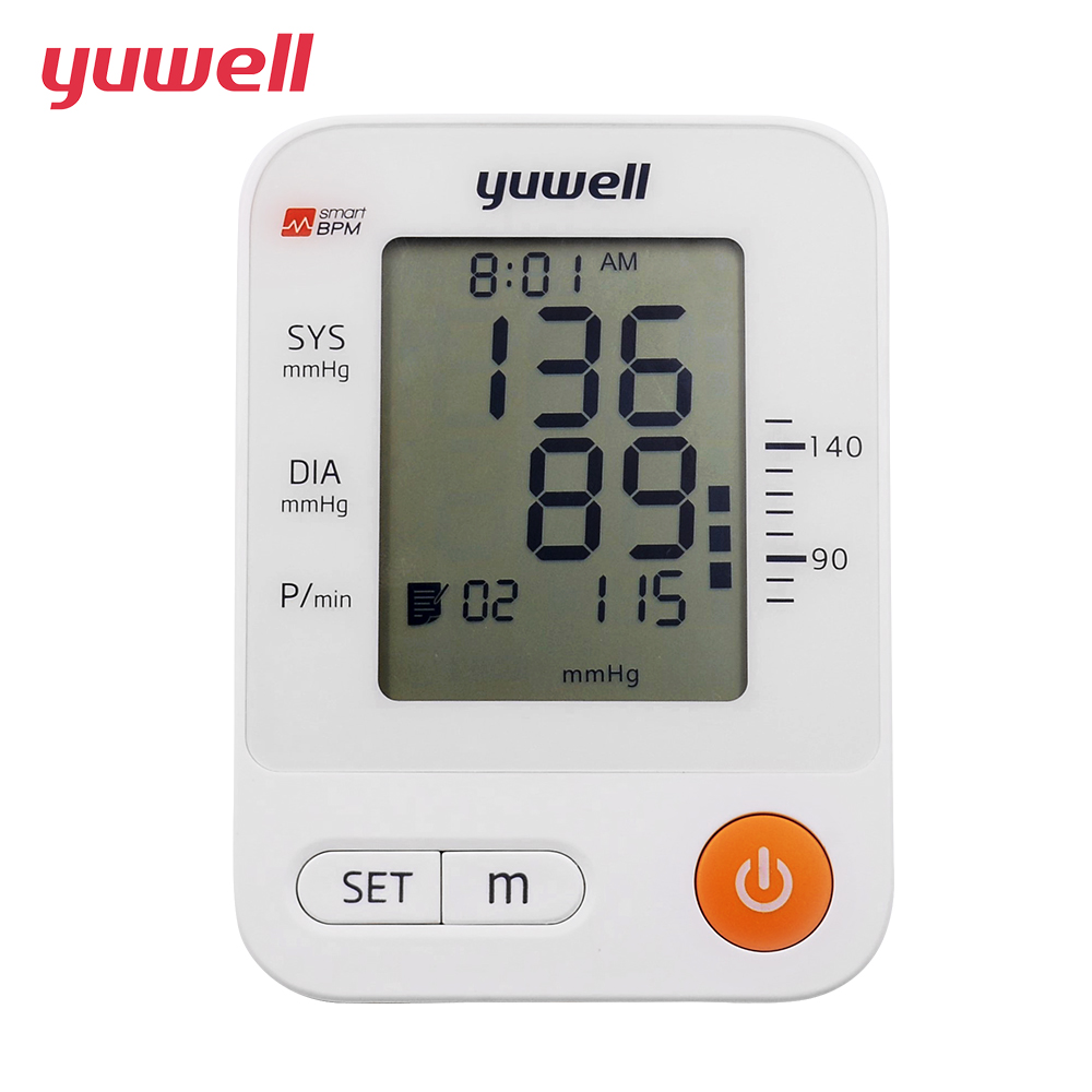 yuwell Digital LCD Sphygmomanometer Medical Equipment Heart Rate Monitor Blood Pressure Monitor Health Care Instrument 670D health care product medical instrument