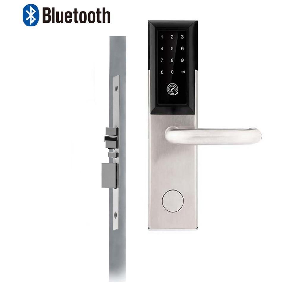 Bluetooth 4.0 Security Entry Door Lock Electronic Combination Password Door Lock Digital Smart Code Locker with Card For HomeBluetooth 4.0 Security Entry Door Lock Electronic Combination Password Door Lock Digital Smart Code Locker with Card For Home