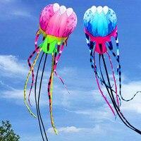 Бесплатная доставка 30 м 45 м большие Медузы воздушные змеи открытый Осьминог воздушный змей катушка Мощный воздушный змей для взрослых 3d воз