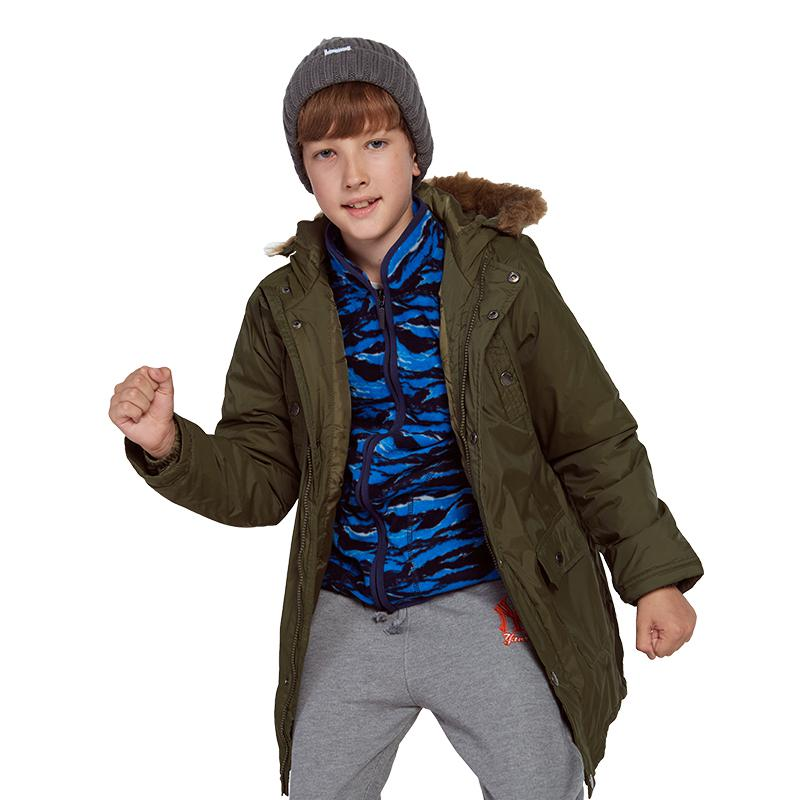 2018 Children's Down Jacket Boys Girls Fashion Hooded Long Jacket Boy Thicker New Children's Clothing Down & Parkas Winter Coat 2017 new winter fashion women down jacket hooded thick super warm medium long female coat long sleeve slim big yards parkas nz18