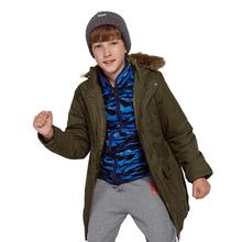 2018 Children's Down Jacket Boys Girls Fashion Hooded Long Jacket Boy Thicker New Children's Clothing Down & Parkas Winter Coat
