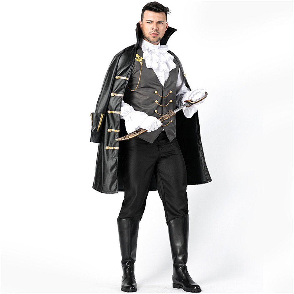 Cosplay medieval retro luxury gothic punk costume pirate prince gentleman costume adult men game uniform halloween costume