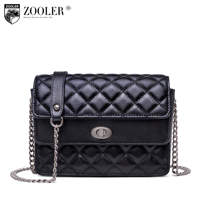 Top!New shoulder Bags genuine leather bag ZOOLER 2018 woman messenger bag ladies cross woman leather bags bolso mujer B235