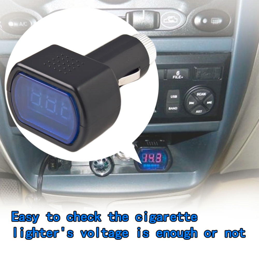 Automobile new LED Digital Display Cigarette Lighter Electric Voltage Meter For Auto Car Vehicle Battery Monitor Voltmeter 3 in 1 multifunctional car digital voltmeter usb car charger led battery dc voltmeter thermometer temperature meter sensor