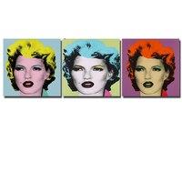Marilyn Monroe Andy'ego warhola 3 sztuk Wall Art Obraz Olejny Reprodukcje Malarstwo Na Płótnie Bez Ramki Zdjęcia Living Room wystrój