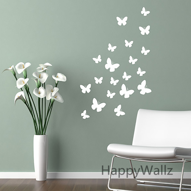 Butterfly Wall Stickers DIY Butterflies Easy Wall Decal Kids Room ...