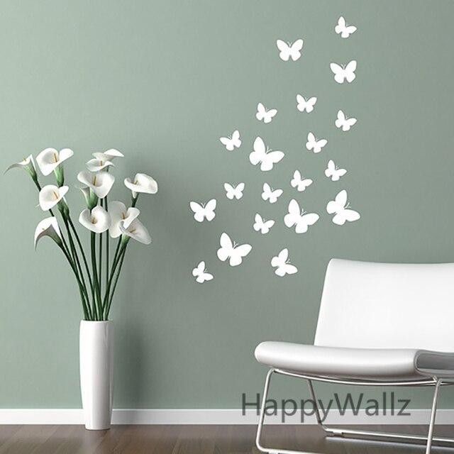 Schmetterling Wandaufkleber DIY Schmetterlinge Einfach Wandtattoo ...