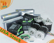 USA Free! Wantai 4 Axis Nema34 Stepper Motor WT86STH118 6004A 1232oz in+Driver DQ860MA 80V 7.8A 256Micro Plastic Metal Machine