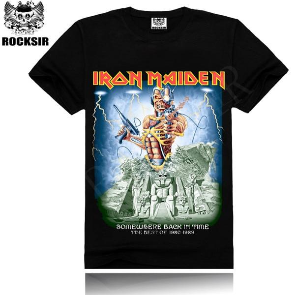 00c0343dd8fc Supreme New Summer Iron Maiden men s t-shirt for men 100% cotton fashion  Iron Maiden print rockstar t-shirt M-XXXL