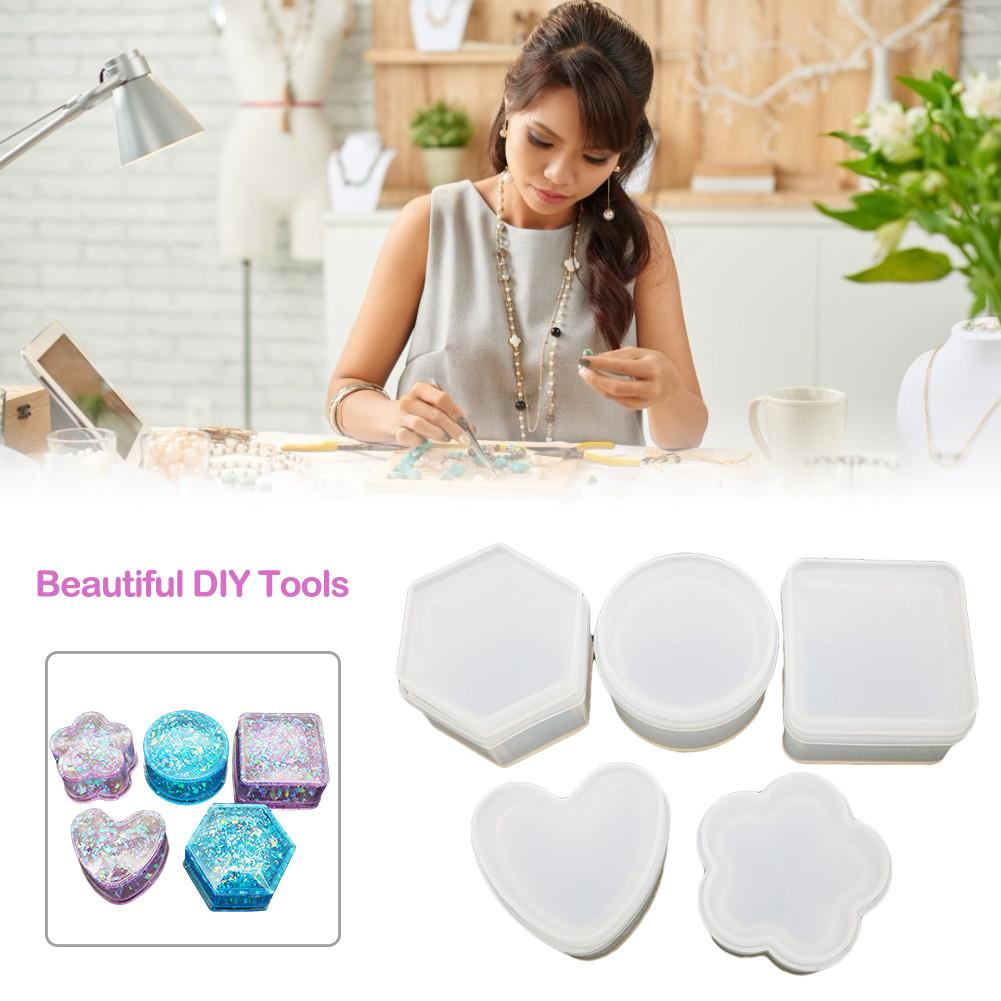 Silicone Mould Nordic Geometry Style Mould DIY Tools Epoxy Mold Jewelry Box Car Aromatherapy Ornaments Cake Decoration Mold
