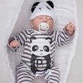 """[SGDOLL] 19 """"Bonecas Reborn Lifelike Vinil Feito À Mão Toque Suave Newborn Sleeping Bebê Crianças Brinquedos w Panda Macacão Xmas Gift 16092406"""