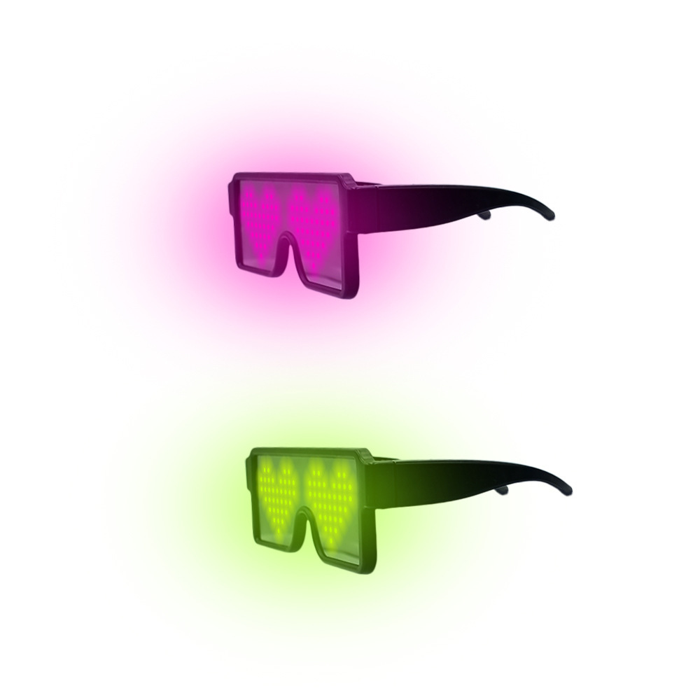 LED Glasses Flash Luminous Blind Eyewear Light Eye Mask Blinking Glowing Glasses Wedding Carnival Dance Bar Party Christmas Gift in Boys Costume Accessories from Novelty Special Use
