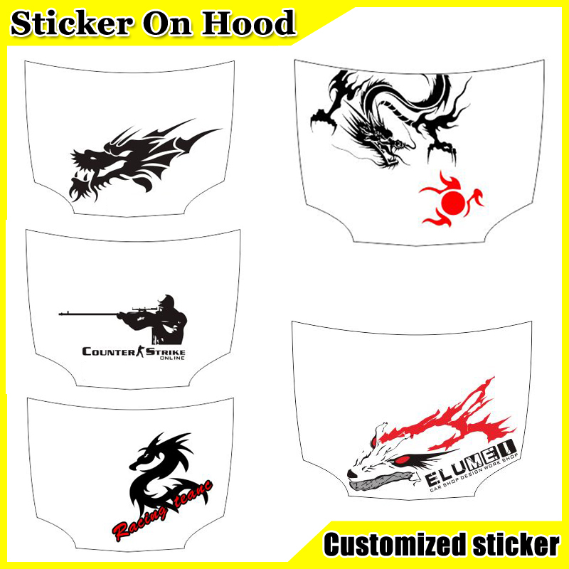 Diy Customed Personalized Car Stickers Cartoon Hood Decals Vinyl Film For Vw Funny Decal On Cars In From Automobiles