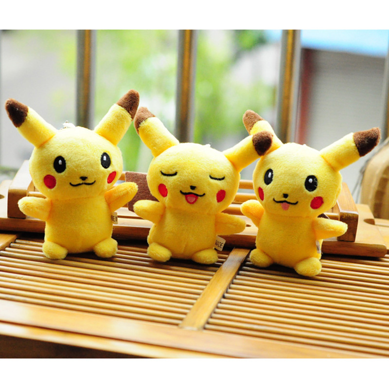 Small Pikachu Animal Dolls, 10CM Baby Plush Toys,High Quality PP Cotton Children Pocket Plush Toys Send Kids Gift 25cm plush kangaroo toys with soft pp cotton creative stuffed animal dolls cute kangaroos with small baby toys gift for children