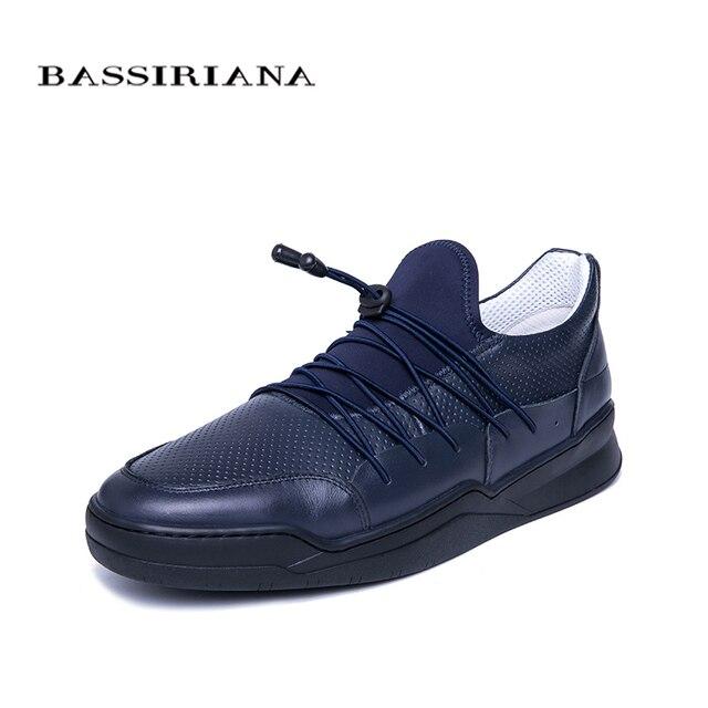 BASSIRIANA для мужчин из натуральной кожи весна и осень фестиваль повседневное модные комфортные дышащие мужские обувь