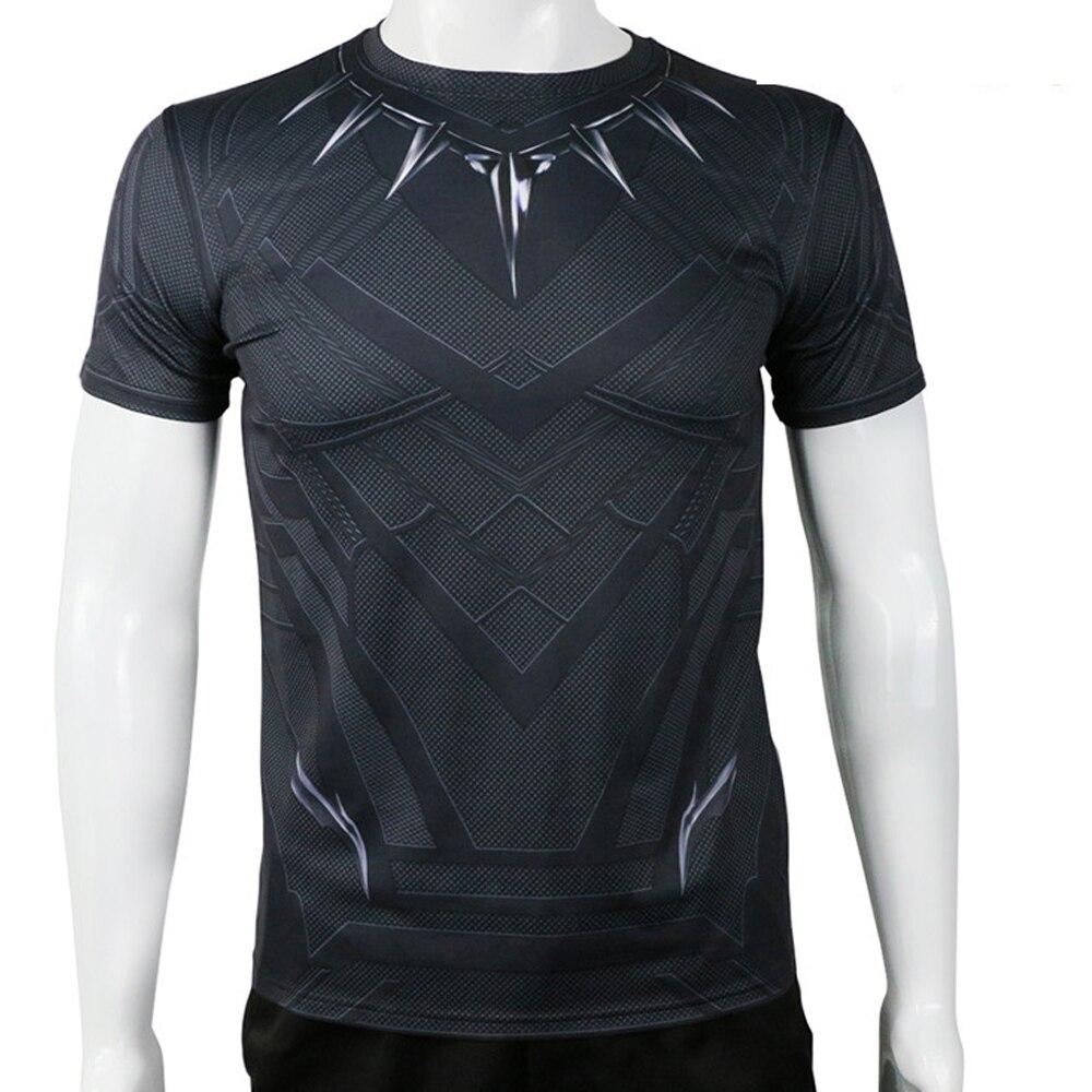 Hero catcher alta qualidade capitão américa guerra civil pantera negra  camiseta oppai cosplay tshirt dos homens 14fc4e90dc0ba