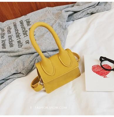 NEW Handle Simple Designer Shoulder Handbag Soft Frosted Square Women Crossbody Bags Female Removable Shoulder Strap Child Mini