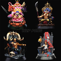 New 22cm One Piece Four Emperors Shanks Kaido White beard Charlotte Linlin Action Figure toy Collectible Model kids toys