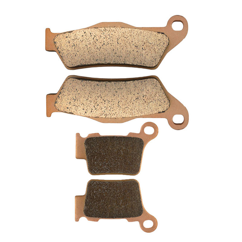 Motorcycle Parts Front & Rear Brake Pads Kit For KTM EXC 450 EXC450 4T 2009 EXC 450 EXC450 2010-2011 Copper Based Sintered new motorcycle sintered front rear brake pads for honda cbr 400 r cbr400r hurricane 1986