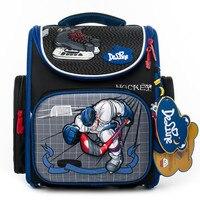 Delune الأطفال عالية الجودة 3D الكرتون سيارات الحقائب المدرسية الفتيان الفتيات الطلاب الاطفال السفر العظام حقيبة حقيبة المدرسة أكياس