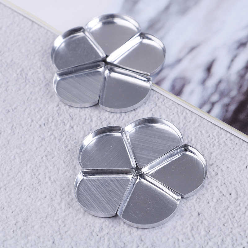 10pcs Aluminum Empty DIY Petal Palette Powder Eyeshadow Pans Container Cosmetic Storage Can Makeup Tools For Beauty