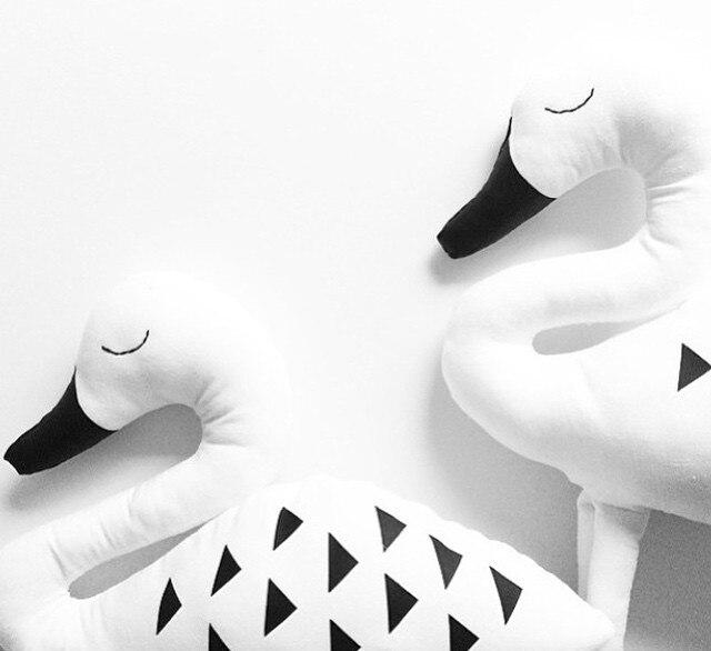 Классический белый милый лебедь хлопка Подушки детские дети, как детская кровать украшением ребенок, Подушки детские 1 шт.