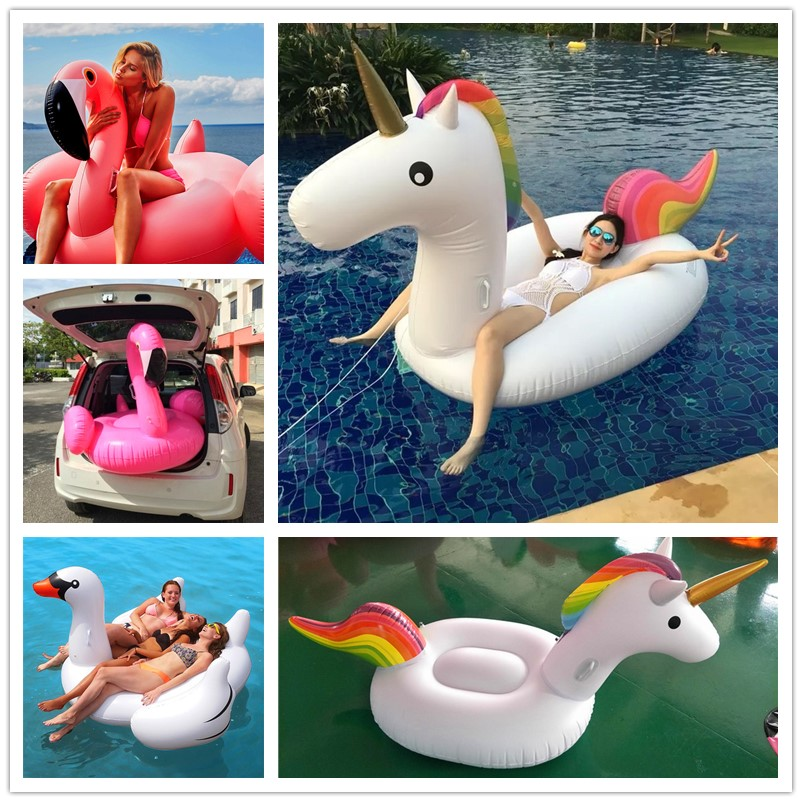 200*90*120cm Giant Inflatable Unicorn Pool Float 2017 Newst Ride-On Swimming Ring Adult Children Water Holiday Party Toy Piscina 240cm 60inch giant inflatable rainbow cloud pool float newest summer ride on swimming ring adults kids water party toys piscina