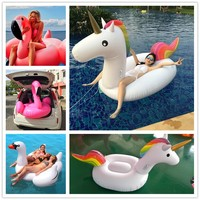 200*90*120cm Giant Inflatable Unicorn Pool Float 2017 Newst Ride On Swimming Ring Adult Children Water Holiday Party Toy Piscina