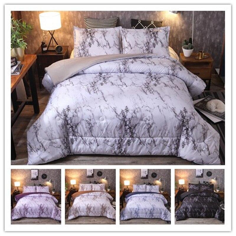 Luxury Marble Pattern Bedding Sets Duvet Cover Set 3pcs Bed Set Queen Quilt Cover Bed Linen
