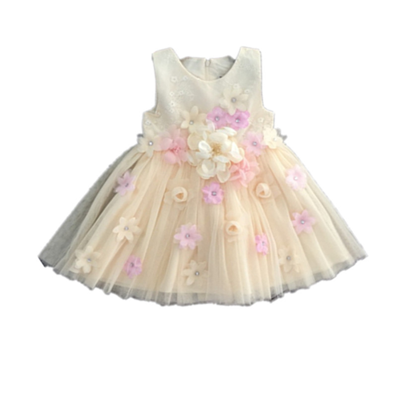 Flower     Girl     Dress   Glitter Sequin Wedding Bridesmaid Pageant 2017 Summer Princess Party   Dresses   Children Clothes Size 2-11
