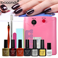 Nail Gel Polish Tools Pro 36W UV Lamp + 4 Colors Gel Varnishes Base and Top Coat Nail Art Kits Manicure Set with Polish Remover