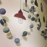 Hot Sprzedaży! nowy Przyjazd Fantastyczna 110 V/220 V 5 M 28 Bawełna Biały i Niebieski LED Ball String Lights Dla Banquet Decoration