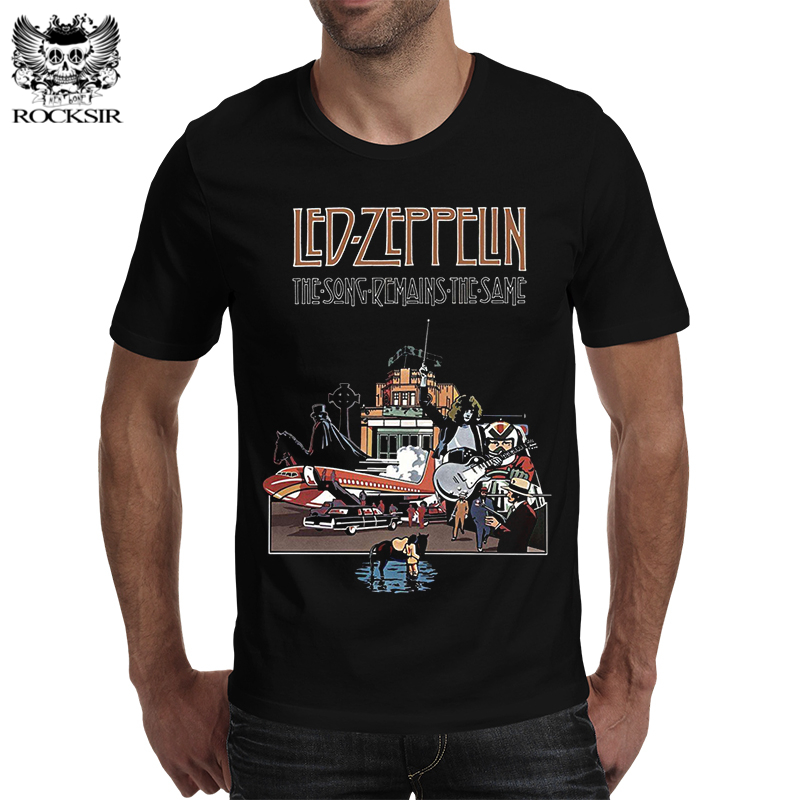 Rocksir 2017 new Led Zeppelin 3d Tees Summer men black t shirt the song reminds the same print casual t-shirt homme hipster tops