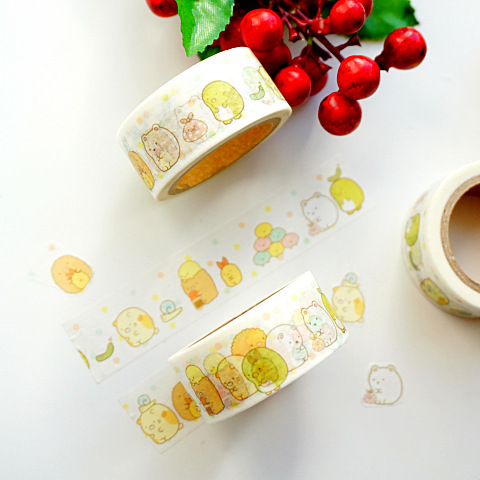 2 Cm Wide Sumikko Gurashi Paper Washi Tape Adhesive Tape DIY Scrapbooking Sticker Label Masking Craft Tape
