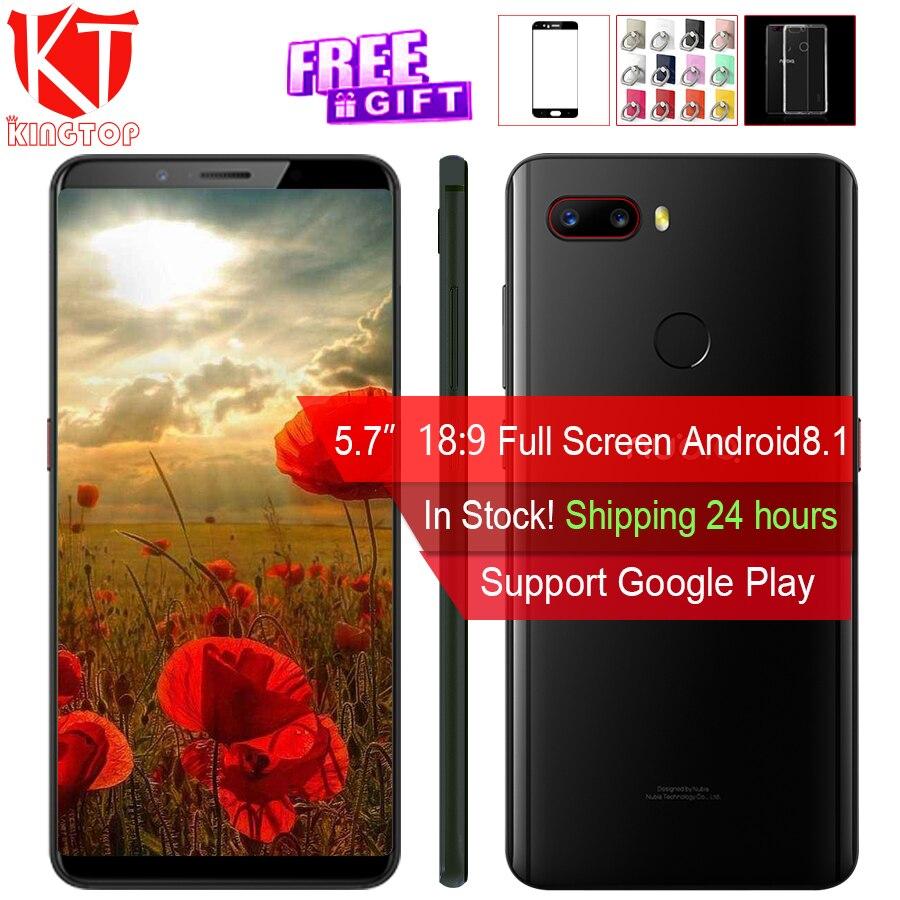 NOUVEAU ZTE Nubia Z18 mini Mobile téléphone 5.7 6g RAM 64g ROM Octa Core 24MP + 5MP double Arrière Caméra 19:8 Plein Écran D'empreintes Digitales Téléphone