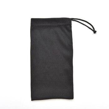 Black glasses case Eyewear Accessories Durable waterproof Dustproof plastic sunglasses pouch soft eyeglasses bag gadget