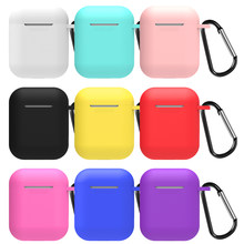New Soft Silicone Case For Air pods Earphone Protective Cover Waterproof for iphone 7 X XR For Airpods Accessories Headset Cover(China)