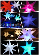 Free shipping 16 colors-changing inflatable star with LED light in, can controled by remote control, lowest price for sale