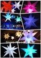 O envio gratuito de 16 cores-mudando estrela inflável com luz LED dentro, pode controlado por controle remoto, o mais baixo preço para venda